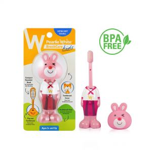 Pearlie White BrushCare Kids Pop-Up Extra Soft Toothbrush (Bunny)