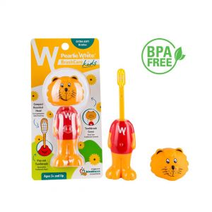 Pearlie White BrushCare Kids Pop-Up Extra Soft Toothbrush (Singa)